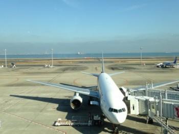 羽田空港 国内線ターミナル 向こうに海が見える!