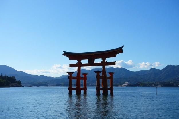 宮島の大鳥居に水がない? 厳島神社