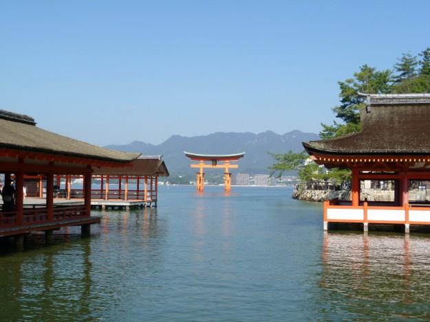 日本の美の景観。広島、宮島の厳島神社