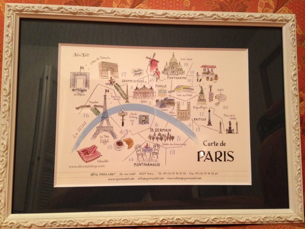 パリのイラスト。これもカデット・ホテルで貰ったお土産