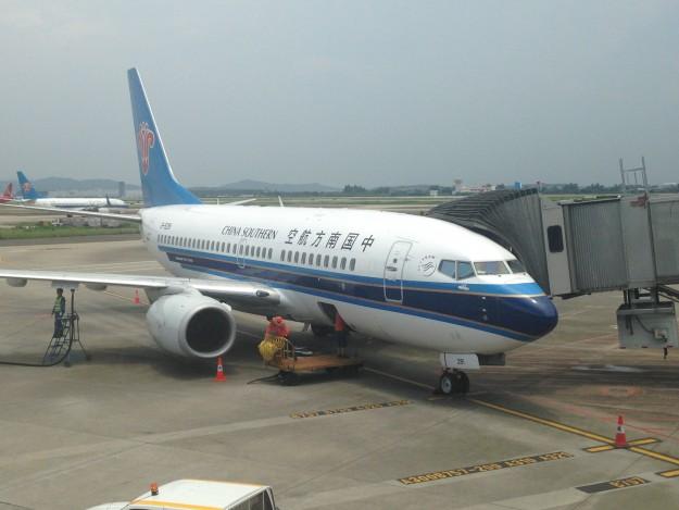 中国南方航空の国内線はいつも遅れる?広州から南京へ。