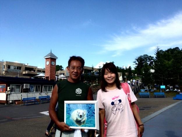 旭山動物園の坂東園長と記念写真