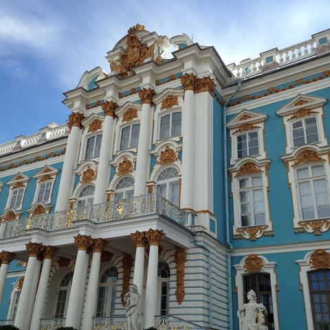 エカテリーナ宮殿はロシアンブルー