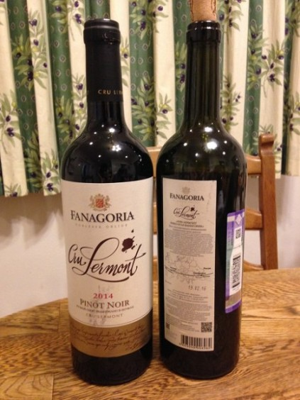 ロシアの赤ワイン Pino Noir
