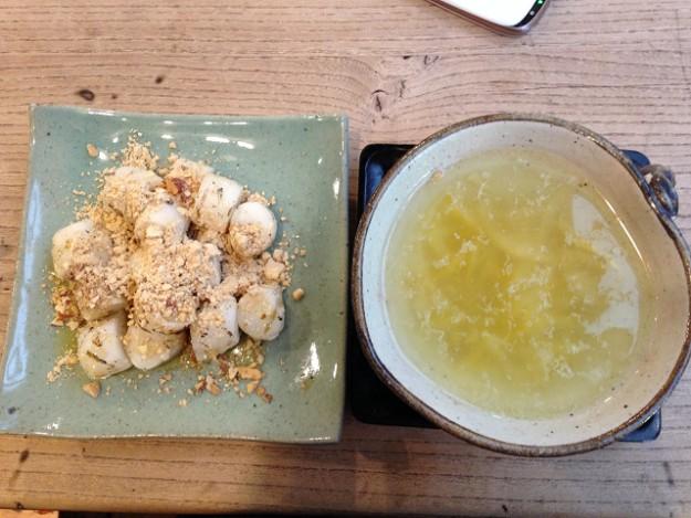 ゆず茶には、ゆずスライスがたくさん。飲んだ後にゆずを食べる。これが美味しい~!!
