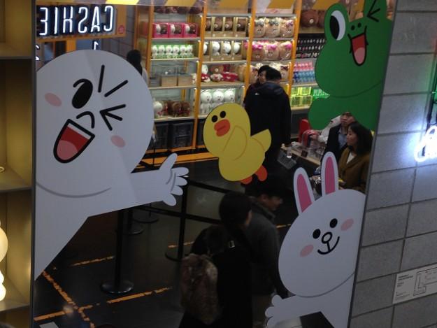 LINE Friendsのお店、キャラクターがいっぱい