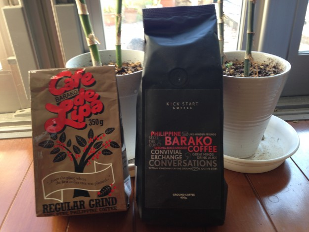 これぞ、貴重なBARAKOコーヒーの豆です。2種類。黒いのが高級品