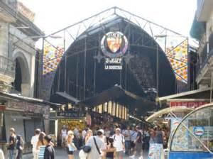 サン・ジュゼップ市場の入口。ランブラス通りからすぐ。