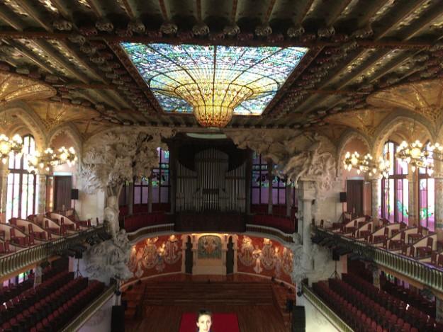 カタルーニャ音楽堂の内部。バルセロナの世界遺産