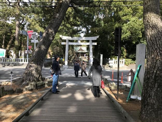 神の道を通って御穂神社に参拝。やっと着いた!