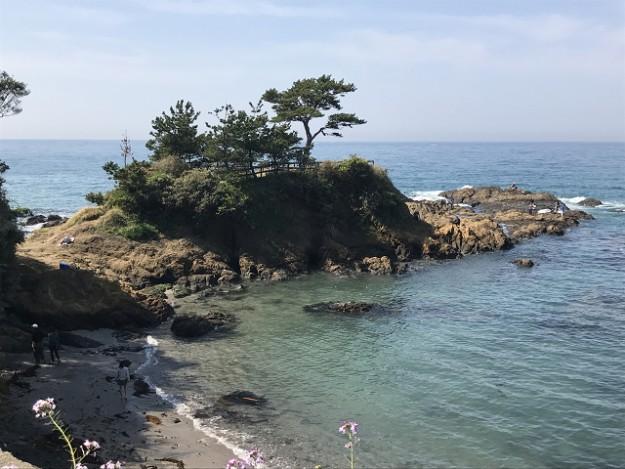 立石公園。海が綺麗です。子供はカニ釣りなども楽しい