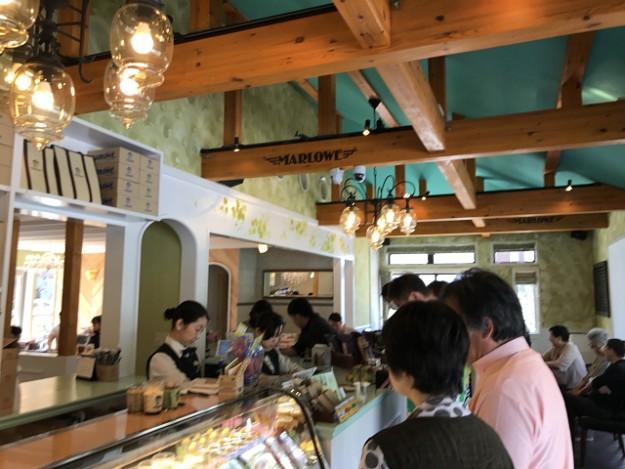 明るい店内。マーロウ逗葉新道店。朝食メニューも1000円くらい。お食事もできます。