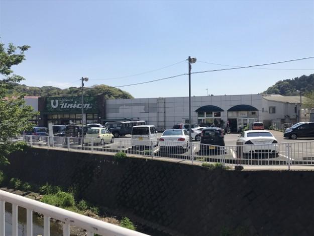 旭屋から川を挟んだ向かいに大きいスーパーがあります。ここの駐車場に停めてお買い物するのもよし。