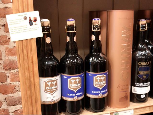 CHIMAY。これもベルギーで有名なビール。大瓶ですね。まるでシャンペンみたい。