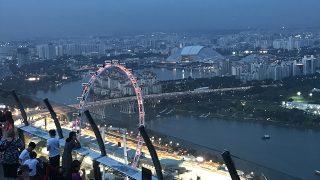 シンガポールの夜景を味わう、マリーナ・ベイ・エリア❤