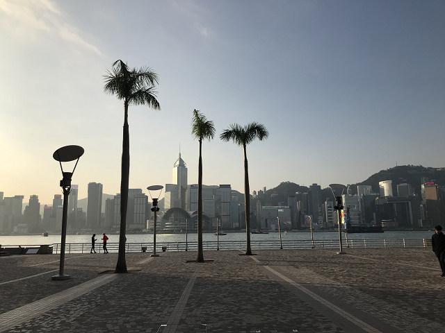 香港に朝が来た!早朝に到着、美しい朝の風景!
